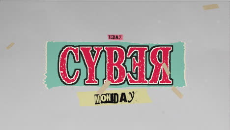 Animación-Intro-Text-Cyber-Monday-Sobre-Fondo-Hipster-Y-Grunge