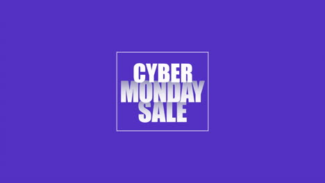 Animation-intro-text-Cyber-Monday-on-purple-fashion-and-minimalism-background-with-geometric-white-line