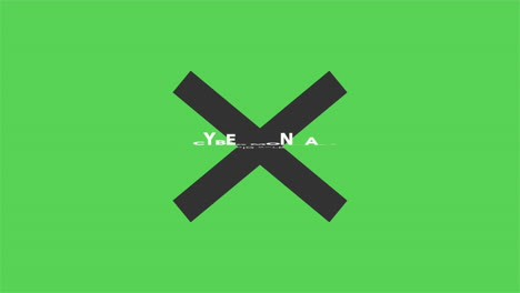 Animation-intro-text-Cyber-Monday-on-green-fashion-and-minimalism-background-with-geometric-black-cross