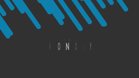 Animation-intro-text-Cyber-Monday-on-black-fashion-and-minimalism-background-with-blue-stripes
