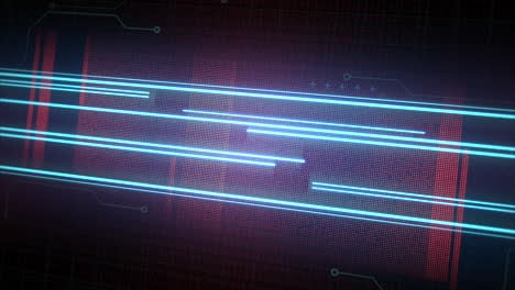 Cyberpunk-animation-background-with-neon-lines-and-matrix-grid