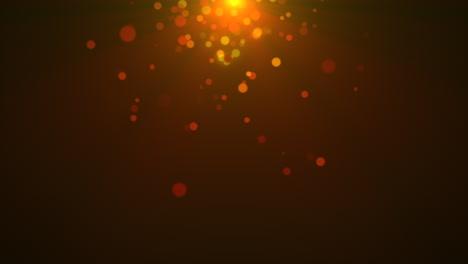 Movimiento-Y-Volar-Partículas-De-Oro-Y-Bokeh-Redondo-Sobre-Fondo-Oscuro-De-Animación-3