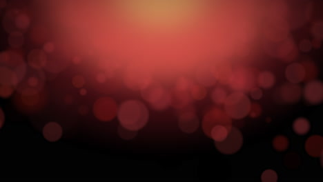 Motion-and-fly-abstract-particles-and-round-bokeh-on-dark-red-background