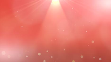 Haces-De-Movimiento-Y-Partículas-Abstractas-De-Vuelo-Con-Bokeh-Redondo-Sobre-Fondo-Rojo-Oscuro