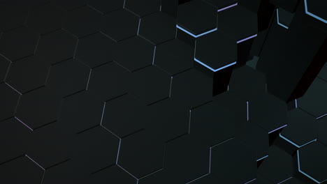 Motion-dark-blue-and-black-hex-grid-background-abstract-background