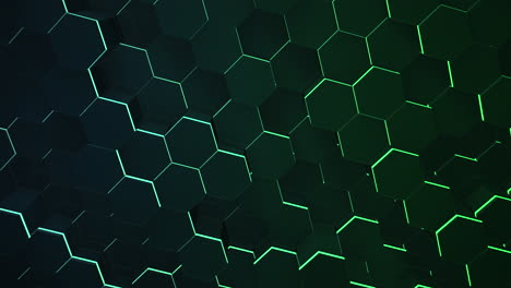Motion-dark-black-and-green-hex-grid-background-abstract-background