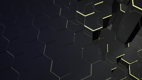 Motion-dark-black-and-yellow-hex-grid-background-abstract-background