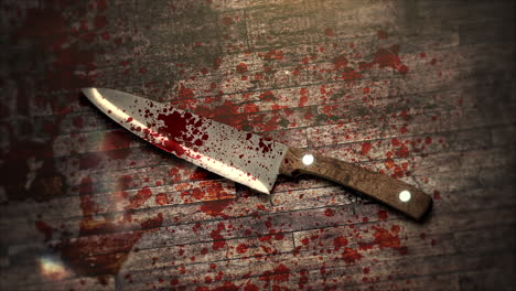 Mystical-horror-background-with-dark-bloody-and-knife-on-wood-abstract-backdrop