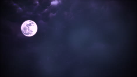 Mystical-animation-halloween-background-with-dark-blue-moon-and-clouds-abstract-backdrop