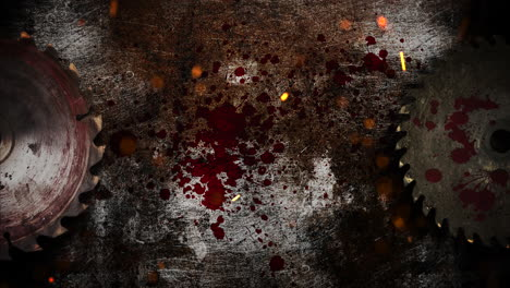 Mystical-horror-background-with-electric-saw-and-dark-blood-abstract-backdrop