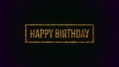 Texto-De-Feliz-Cumpleaños-De-Primer-Plano-Animado-Con-Marco-Dorado-Sobre-Fondo-De-Vacaciones
