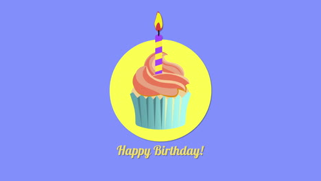 Animated-closeup-Happy-Birthday-text-with-candy-cake-on-holiday-background-2