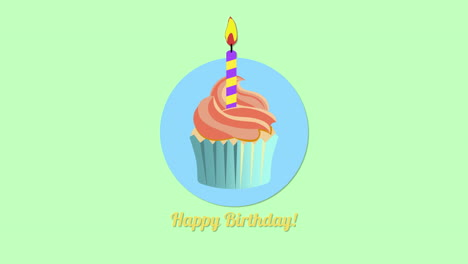 Animated-closeup-Happy-Birthday-text-with-candy-cake-on-holiday-background-3