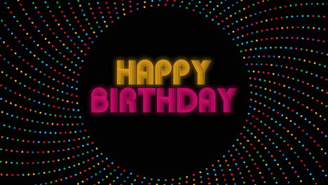Animated-closeup-Happy-Birthday-text-with-confetti-on-holiday-background