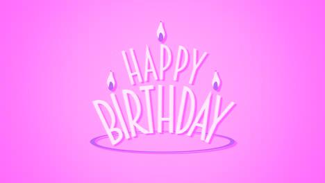 Primer-Plano-Animado-Texto-De-Feliz-Cumpleaños-Con-Velas-Sobre-Fondo-Rosa-De-Vacaciones