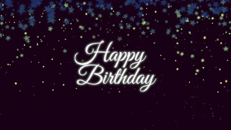 Animated-closeup-Happy-Birthday-text-with-confetti-on-holiday-background-2