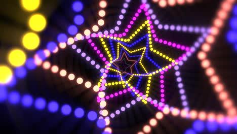 Movimiento-Colorido-Láser-Neón-Estrellas-Abstracto-Antecedentes