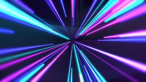 Bewegung-Bunte-Neonlinien-Abstrakter-Hintergrund