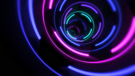 Motion-colorful-neon-tunnel-lines-abstract-background