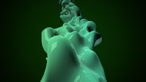 Movimiento-Verde-Oscuro-L�quido-Futurista-Formas-Abstractas-Fondo-Geom�trico-Motion-dark-green-liquid-futuristic-shapes-abstract-geometric-background