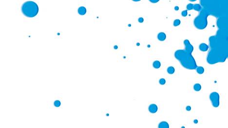 Animation-Bewegung-Abstrakte-Blaue-Flüssigkeitsflecken-Weißer-Spritzer-Hintergrund