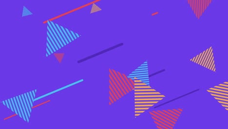 Motion-abstract-geometric-shapes-triangles-and-lines-colourful-Memphis-background-1