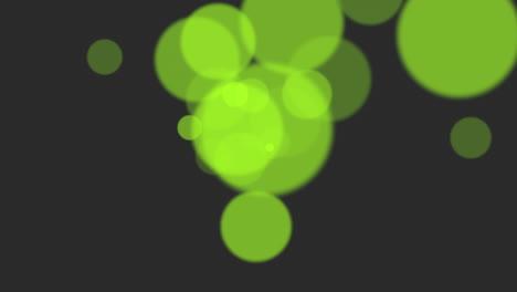 Animación-Volar-Abstracto-Verde-Bokeh-Y-Partículas-Sobre-Fondo-Brillante-Feliz-Año-Nuevo-Y-Feliz-Navidad-Tema
