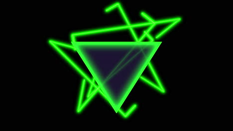 Animation-abstract-neon-green-triangles-motion-disco-background-1