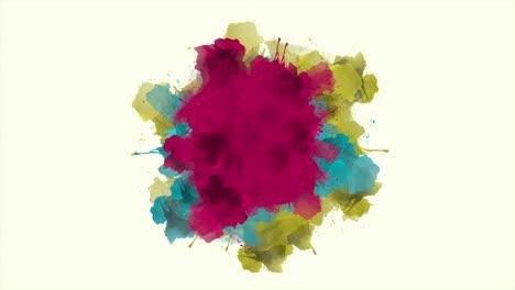 Animación-Resumen-Colorido-Salpicaduras-Movimiento-Discoteca-Fondo
