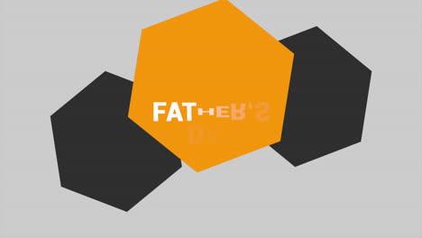 Animation-text-Fathers-day-on-white-fashion-and-minimalism-background-with-geometric-orange-hexagon