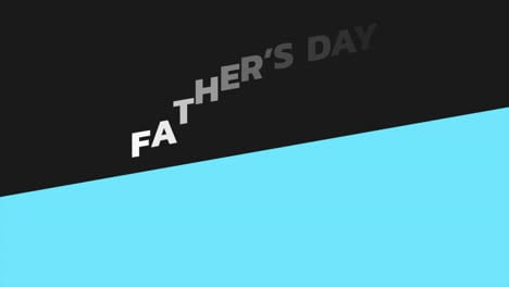 Animation-text-Fathers-day-on-black-and-blue-fashion-and-minimalism-background-with-geometric-shape