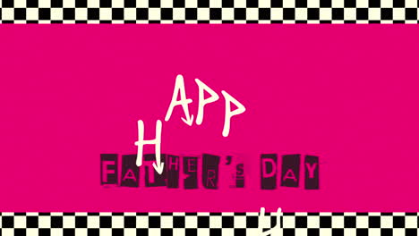 Animation-text-Fathers-day-on-red-hipster-and-retro-background-with-noise-in-90-style