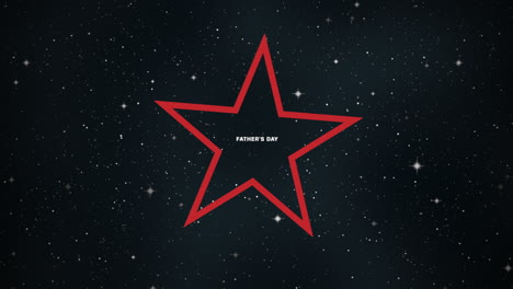 Animation-text-Fathers-day-on-black-fashion-and-minimalism-background-with-res-star-in-galaxy