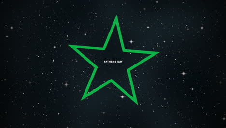 Animation-text-Fathers-day-on-fashion-and-club-background-with-glowing-star