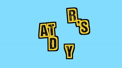 Animación-Texto-Día-Del-Padre-Sobre-Fondo-Azul-Hipster-Y-Grunge-Con-Ruido-1