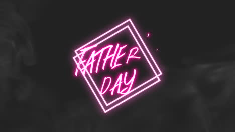 Animation-text-Fathers-day-on-fashion-and-club-background-with-glowing-pink-squares