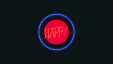 Animation-text-Fathers-day-on-fashion-and-club-background-with-glowing-blue-and-red-neón-circles