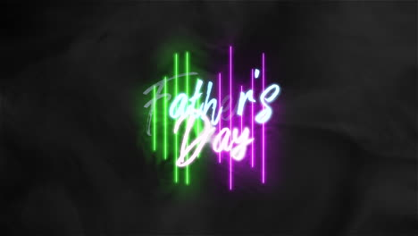 Animation-text-Fathers-day-on-fashion-and-club-background-with-glowing-green-and-purple-neon-lines-1