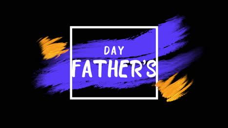 Texto-De-Introducción-De-Animación-Día-Del-Padre-Sobre-Fondo-Naranja-Y-Morado-De-Moda-Y-Pincel