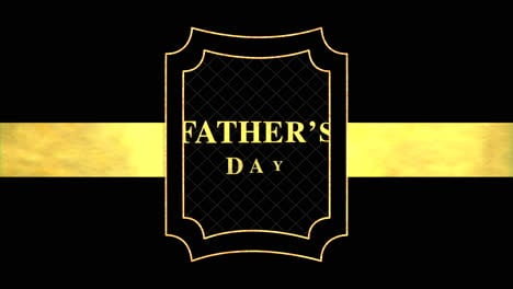 Animation-text-Fathers-day-on-black-fashion-and-minimalism-background-with-gold-line-and-shape
