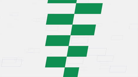 Motion-race-green-flags-retro-sport-background
