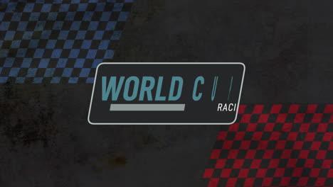Bandera-De-Fórmula-De-Movimiento-Y-Texto-Copa-Del-Mundo-Carreras-Fondo-Deportivo-Retro
