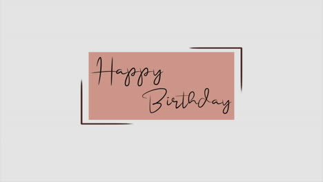 Animation-intro-text-Happy-Birthday-on-brown-fashion-and-minimalism-background-with-geometric-shape