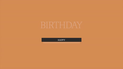 Animation-intro-text-Happy-Birthday-on-brown-fashion-and-minimalism-background
