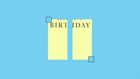 Animation-intro-text-Happy-Birthday-on-blue-fashion-and-minimalism-background-with-geometric-shape-1