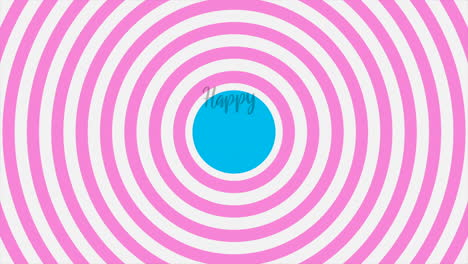 Animation-intro-text-Happy-Birthday-on-pink-fashion-and-minimalism-background-with-geometric-circles