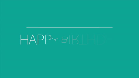 Animation-intro-text-Happy-Birthday-on-green-fashion-and-minimalism-background