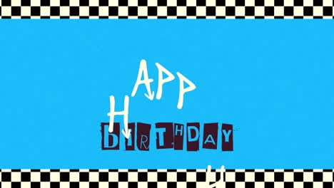 Animation-intro-text-Happy-Birthday-on-blue-hipster-and-grunge-background