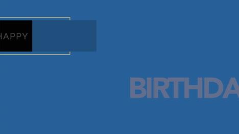 Animation-intro-text-Happy-Birthday-on-blue-fashion-and-minimalism-background-with-geometric-shape-2