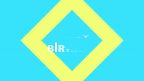 Animation-intro-text-Happy-Birthday-on-blue-fashion-and-minimalism-background-with-geometric-shape-3